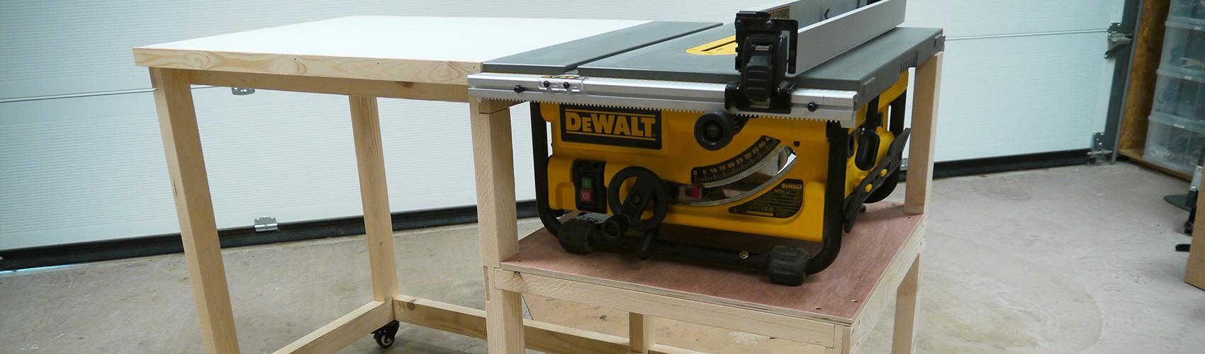 Fabrication d'un établi mobile polyvalent / EP01 - Dewalt DW745